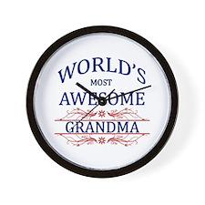 World's Most Awesome Grandma Wall Clock