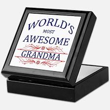 World's Most Awesome Grandma Keepsake Box