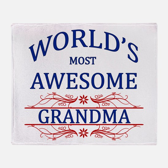 World's Most Awesome Grandma Throw Blanket