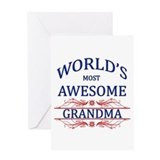 World's Most Awesome Grandma Greeting Card
