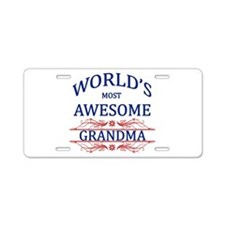 World's Most Awesome Grandma Aluminum License Plat
