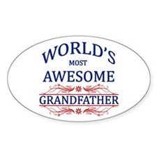 World's Most Awesome Grandfather Decal
