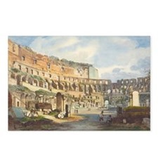 Ippolito Caffi - Interior of the Colosseum Postcar