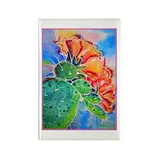 Cactus! Colorful southwest art! Rectangle Magnet