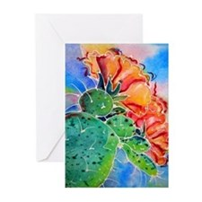 Cactus! Colorful southwest art! Greeting Cards (Pk