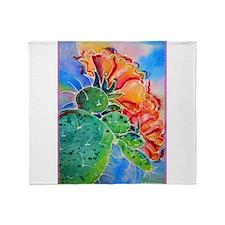 Cactus! Colorful southwest art! Throw Blanket