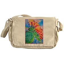 Cactus! Colorful southwest art! Messenger Bag