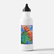 Cactus! Colorful southwest art! Water Bottle