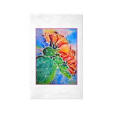 Cactus! Colorful southwest art! 3'x5' Area Rug