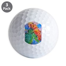 Cactus! Colorful southwest art! Golf Ball