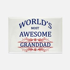 World's Most Awesome Granddad Rectangle Magnet