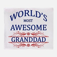 World's Most Awesome Granddad Throw Blanket