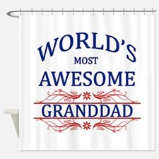 World's Most Awesome Granddad Shower Curtain