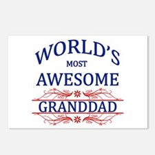 World's Most Awesome Granddad Postcards (Package o