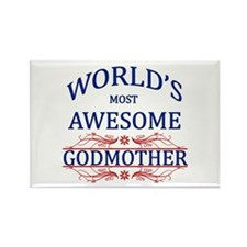World's Most Awesome Godmother Rectangle Magnet