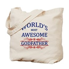 World's Most Awesome Godfather Tote Bag