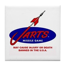 Jarts & Lawn Darts Tile Coaster