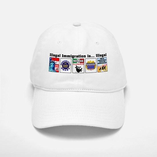Multi - Illegal Immigration Baseball Baseball Cap