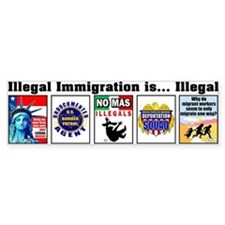 Multi - Illegal Immigration Bumper Bumper Sticker