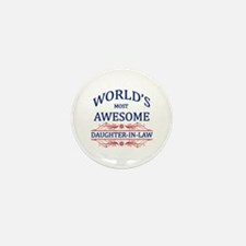 World's Most Awesome Daughter-in-Law Mini Button (