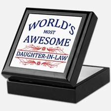 World's Most Awesome Daughter-in-Law Keepsake Box