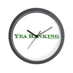 Yea Banking Wall Clock