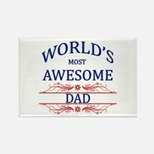 World's Most Awesome Dad Rectangle Magnet