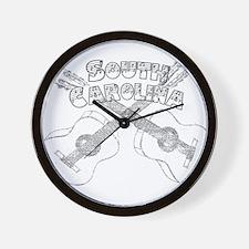 South Carolina Guitars Wall Clock