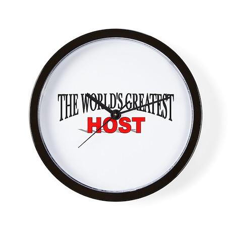 """The World's Greatest Host"" Wall Clock"