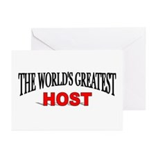 """""""The World's Greatest Host"""" Greeting Cards (Packag"""