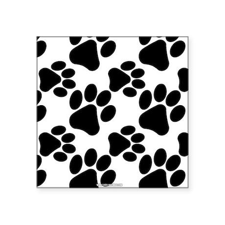 Black Dog Paws on White Sticker