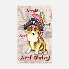 Sheltie Pirate Rectangle Decal