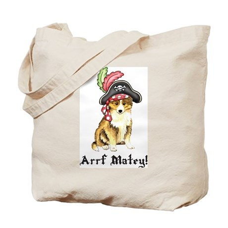 Sheltie Pirate Tote Bag