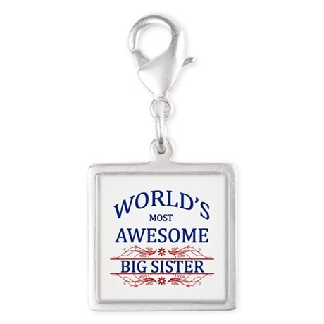 World's Most Awesome Big Sister Silver Square Char