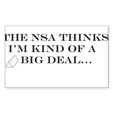 The NSA Thinks I'm Kind of a Big Deal Decal