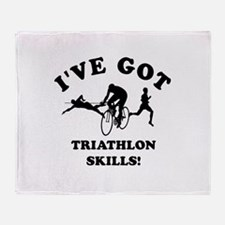 I've got Triathlon skills Throw Blanket