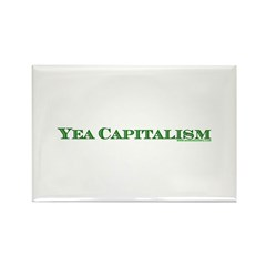 Yea Capitalism Rectangle Magnet (100 pack)