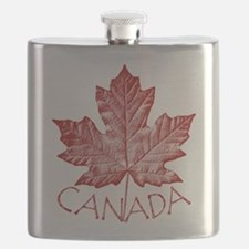 Canada Souvenir Flask Vintage Canadian Maple Leaf