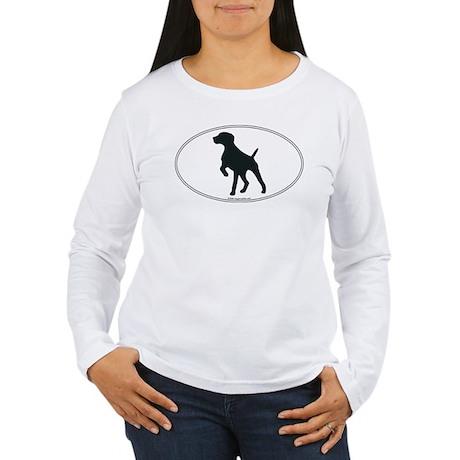GS Pointer Silhouette Women's Long Sleeve T-Shirt