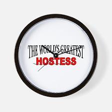 """""""The World's Greatest Hostess"""" Wall Clock"""
