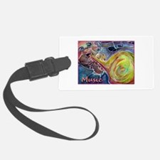 Music, colorful art Luggage Tag