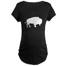 White Buffalo Silhouette Maternity T-Shirt