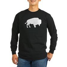 White Buffalo Silhouette Long Sleeve T-Shirt