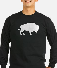 White Buffalo Silhouette Long Sleeve T-Shirt
