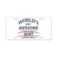 World's Most Awesome Aunt Aluminum License Plate