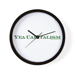 Yea Capitalism Wall Clock