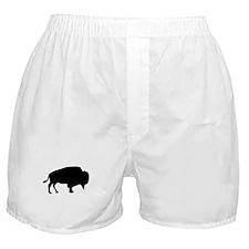 Black Buffalo Silhouette Boxer Shorts
