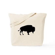 Black Buffalo Silhouette Tote Bag