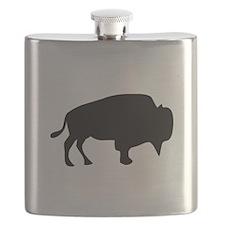 Black Buffalo Silhouette Flask