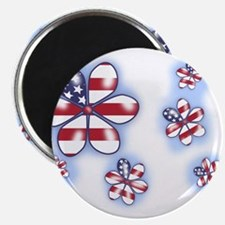 "USA Flowers (sc) 2.25"" Magnet (100 pack)"